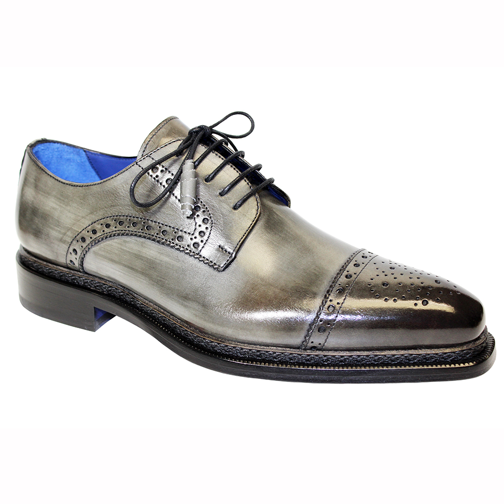 Emilio Franco Nicolo Leather Shoes Gray Image
