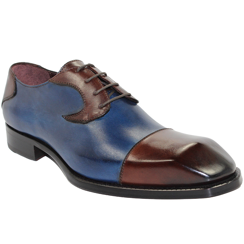Emilio Franco Pietro Brown/Navy Shoes Image