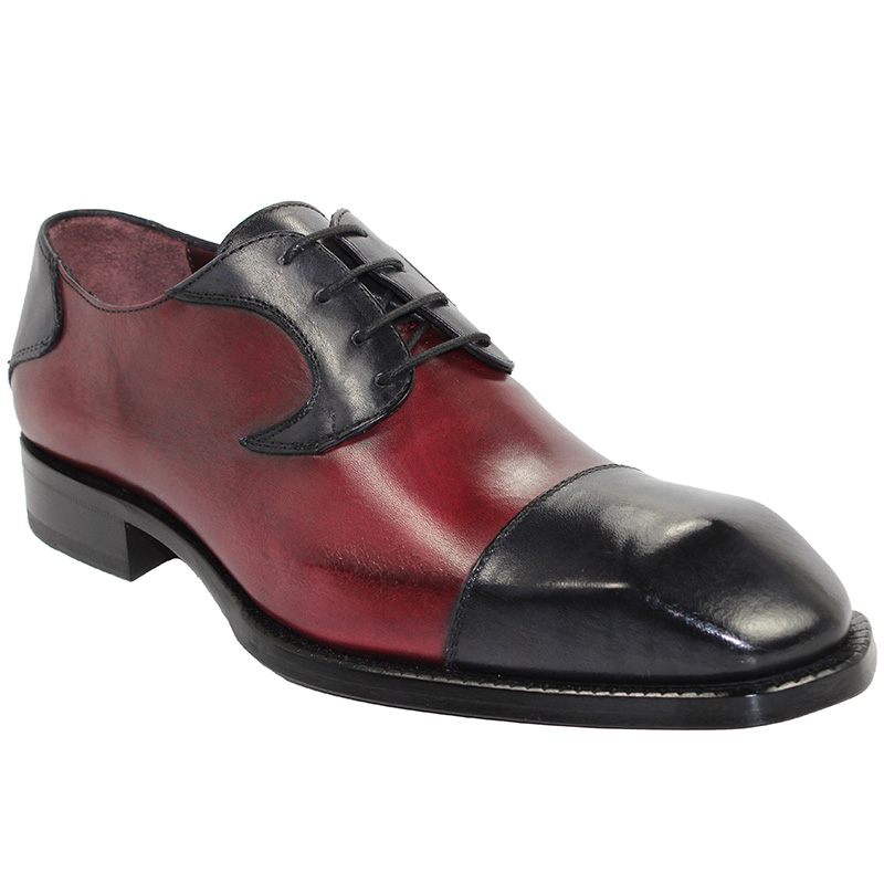 Emilio Franco Pietro Dark Grey/Wine Shoes Image