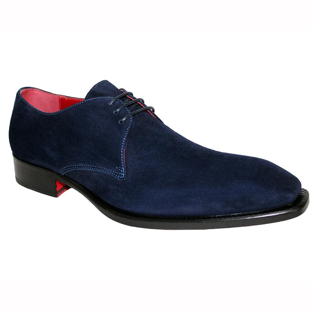 Emilio Franco Uberto Suede Shoes Navy Image