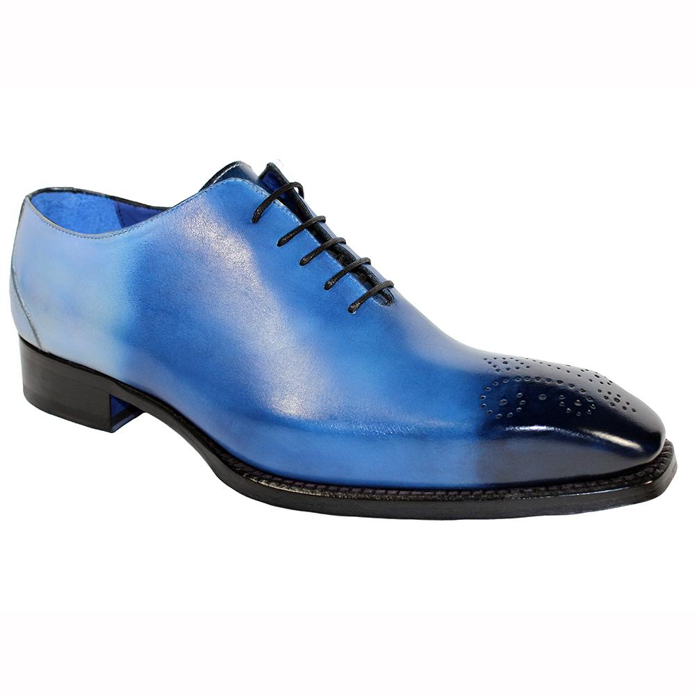 Emilio Franco Valerio Leather Shoes Blue Combo Image