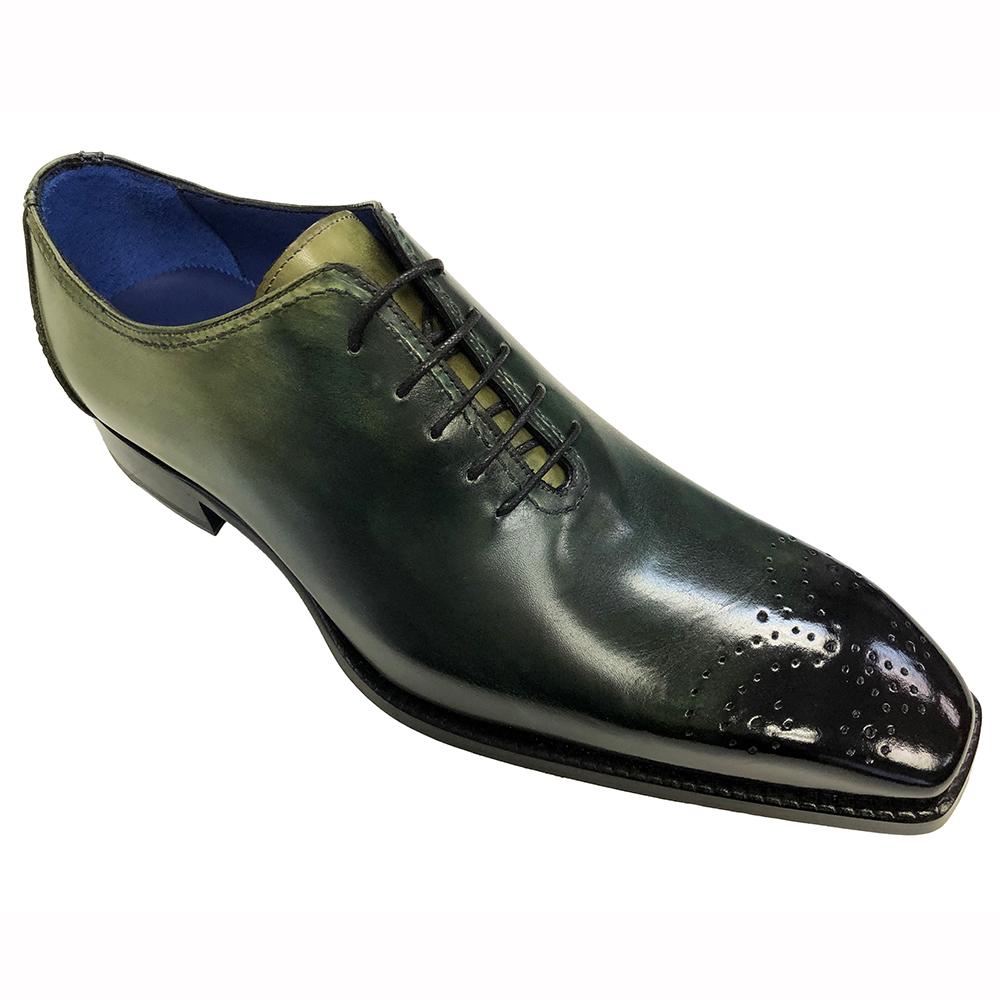 Emilio Franco Valerio Leather Shoes Green Combo Image