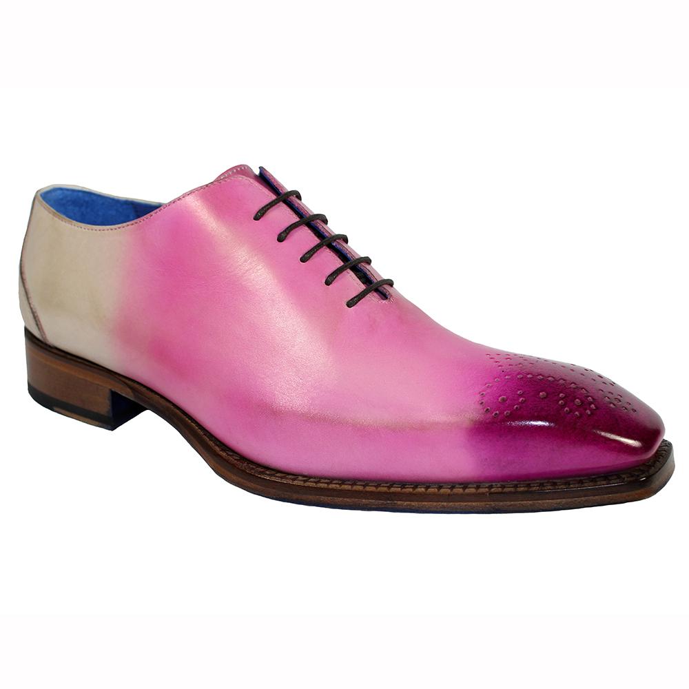 Emilio Franco Valerio Leather Shoes Pink Combo Image