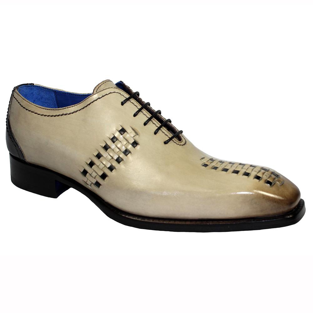 Emilio Franco Vito Leather Shoes Light Taupe / Choco Image