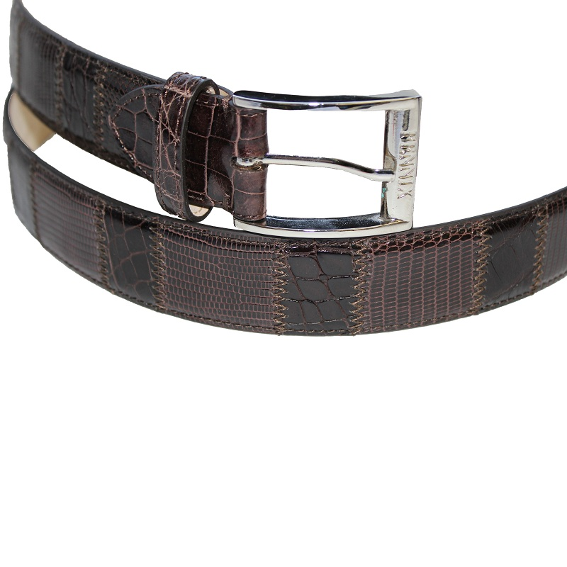 Fennix 304 Lizard and Alligator Belt Chocolate Image