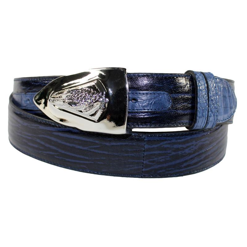 Fennix 306 Calfskin & Alligator Belt Blue Image