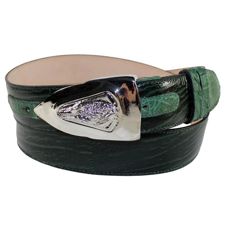Fennix 306 Calfskin & Alligator Belt Green Image
