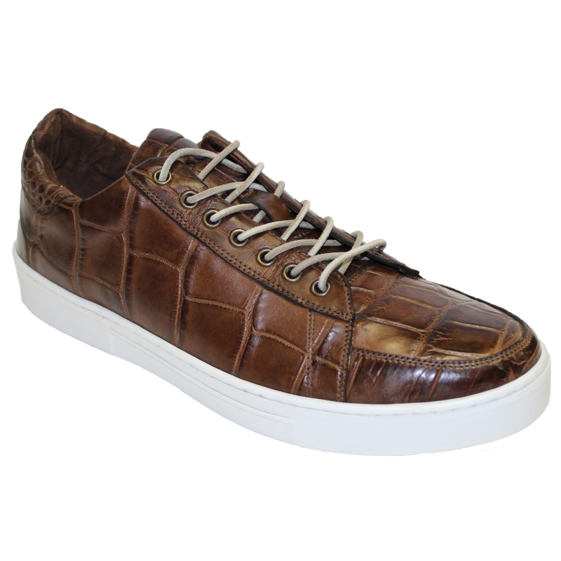 Fennix Adam Allligator Sneakers Brown Image
