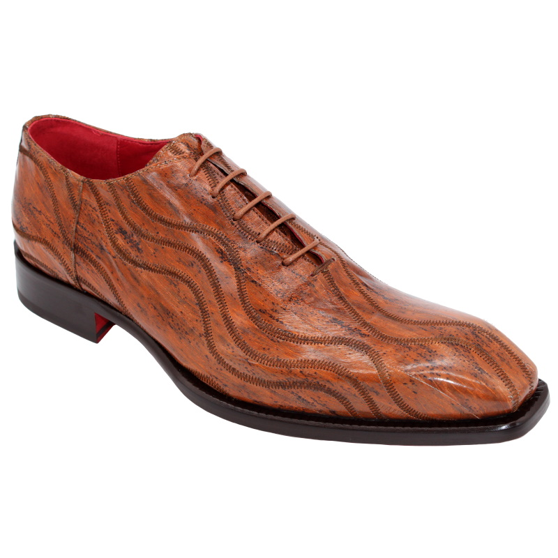 Fennix Albert Genuine Eel Oxfords Cognac Image