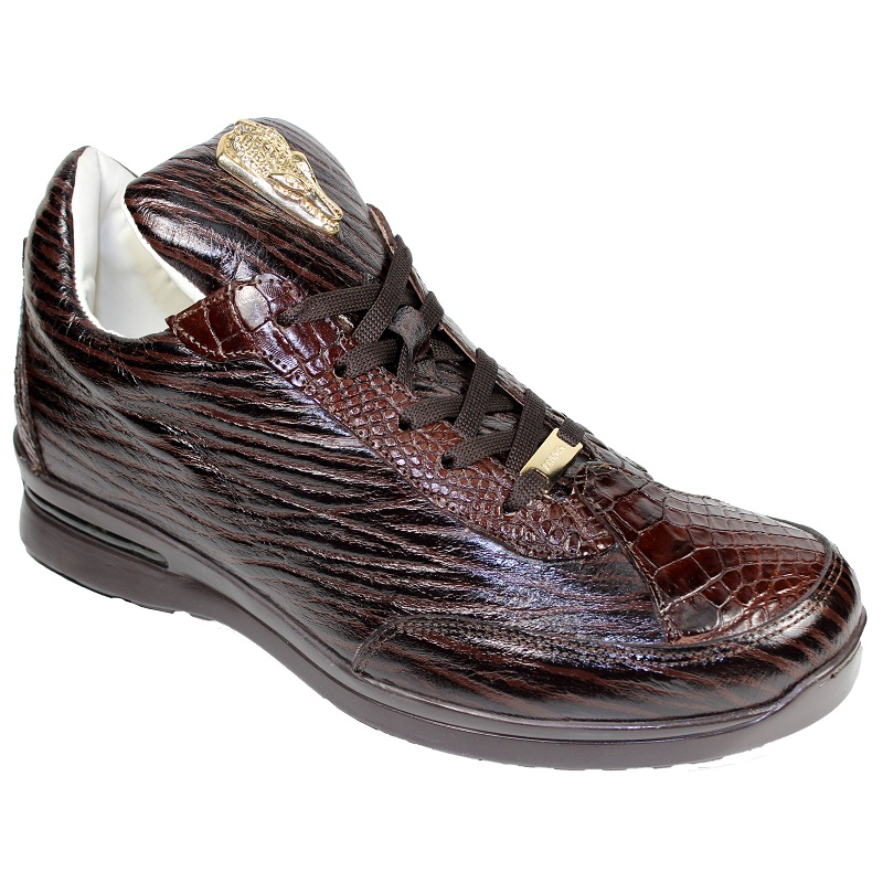 Fennix Alex Alligator and Deer Lace-up Sneakers Brown Image