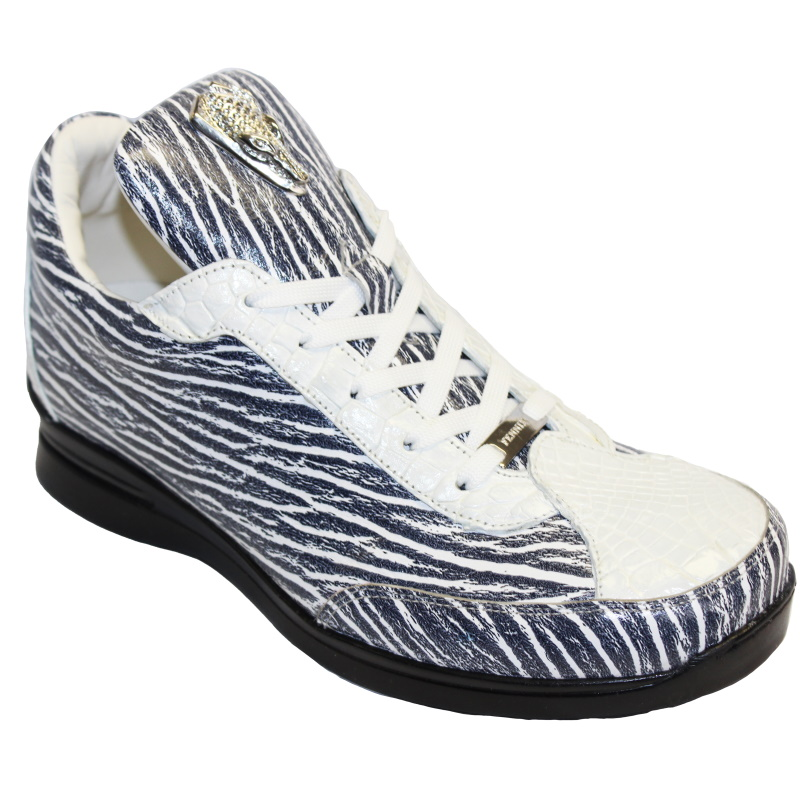 Fennix Alex Calfskin & Alligator Sneakers Black/White Image