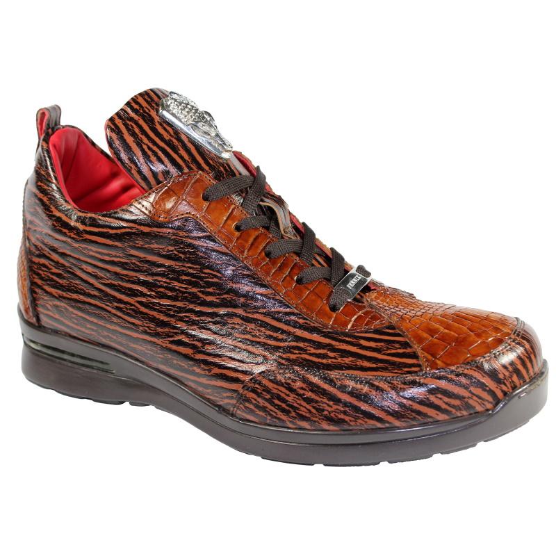 Fennix Alex Calfskin & Alligator Sneakers Rust Image