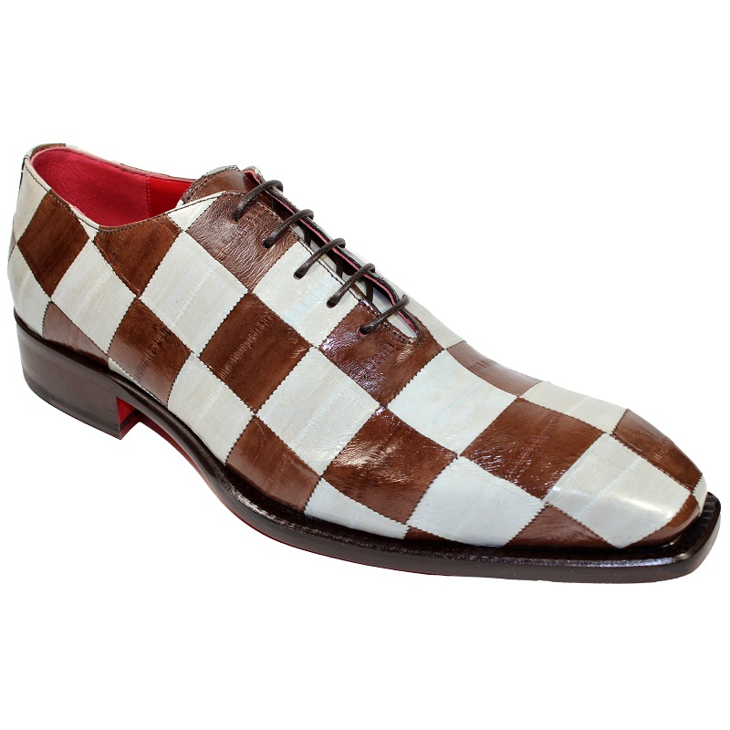 Fennix Charlie Eel Checkerboard Shoes Brown / Bone Image