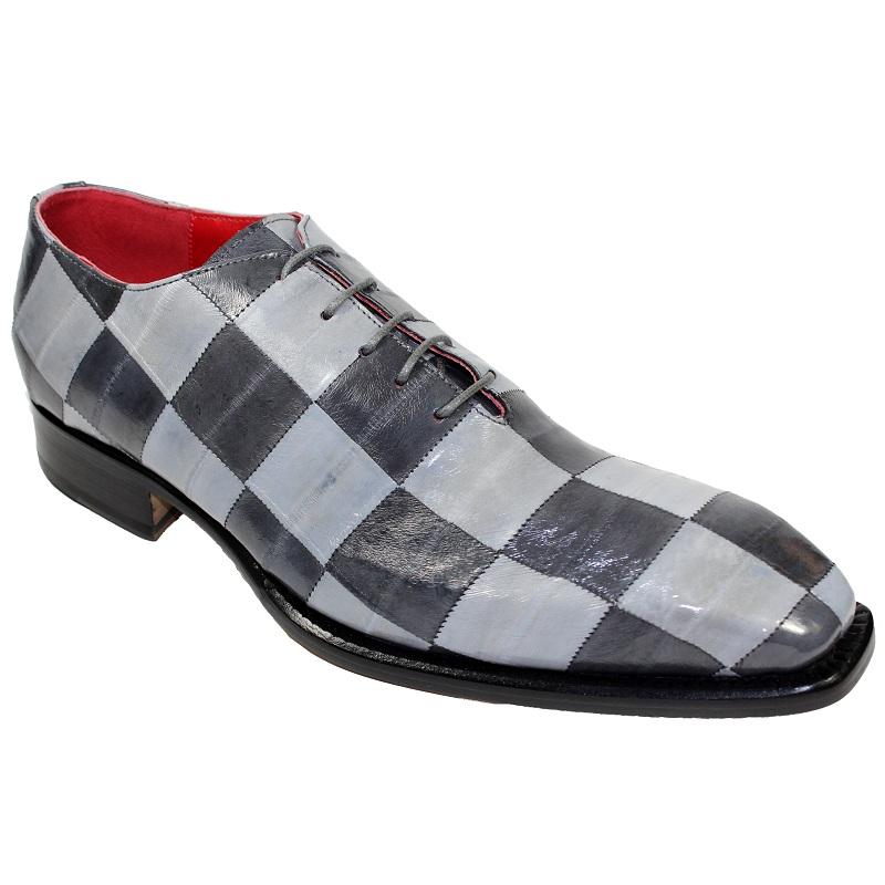 Fennix Charlie Eel Checkerboard Shoes Dark Grey / Grey Image