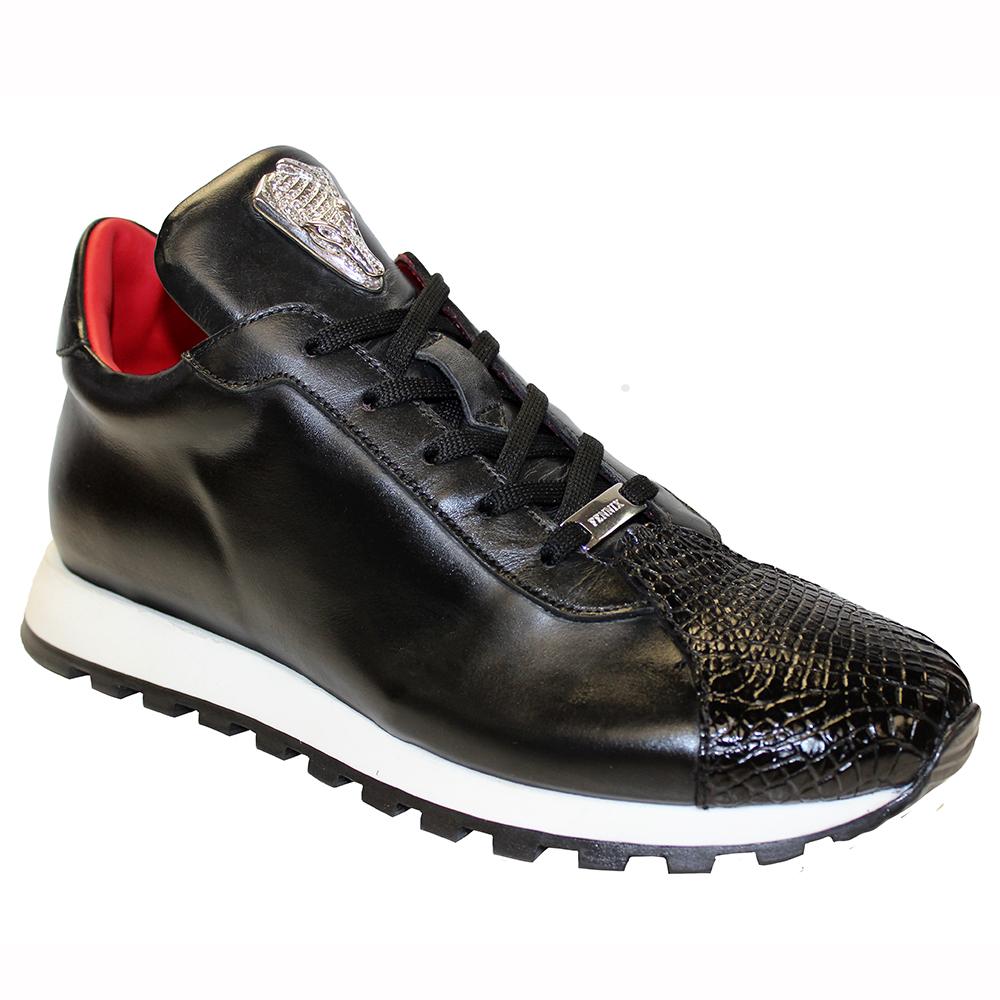 Fennix Felix Leather & Alligator Sneakers Black Image