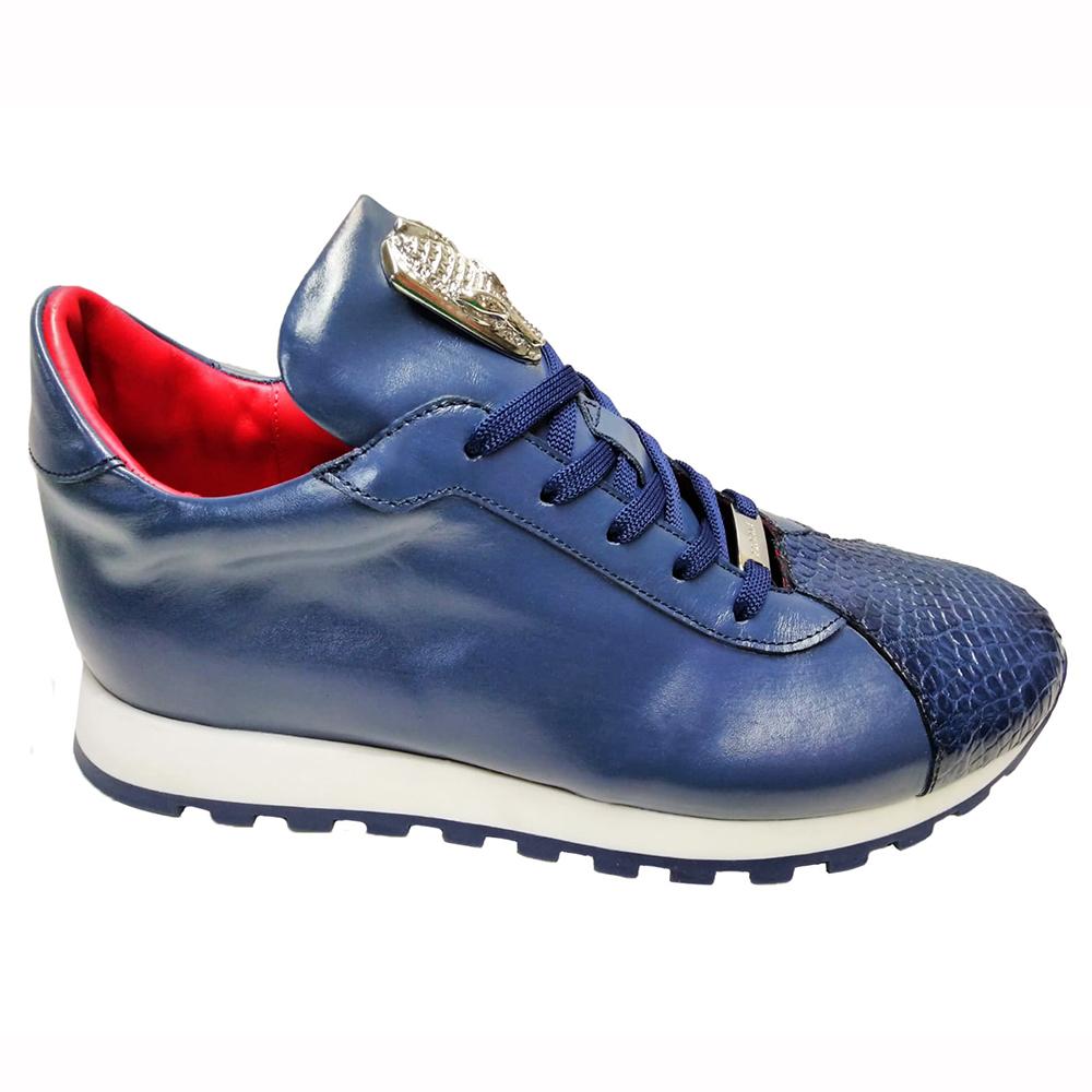 Fennix Felix Leather & Alligator Sneakers Blue Image