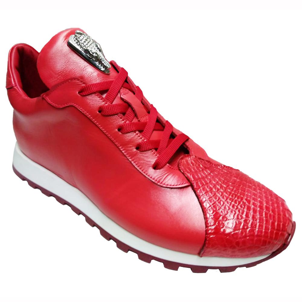 Fennix Felix Leather & Alligator Sneakers Red Image