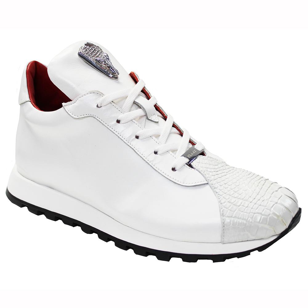 Fennix Felix Leather & Alligator Sneakers White Image