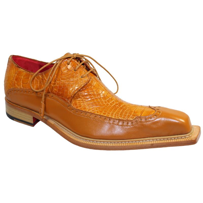 Fennix Finley Alligator & Calfskin Shoes Cognac Image
