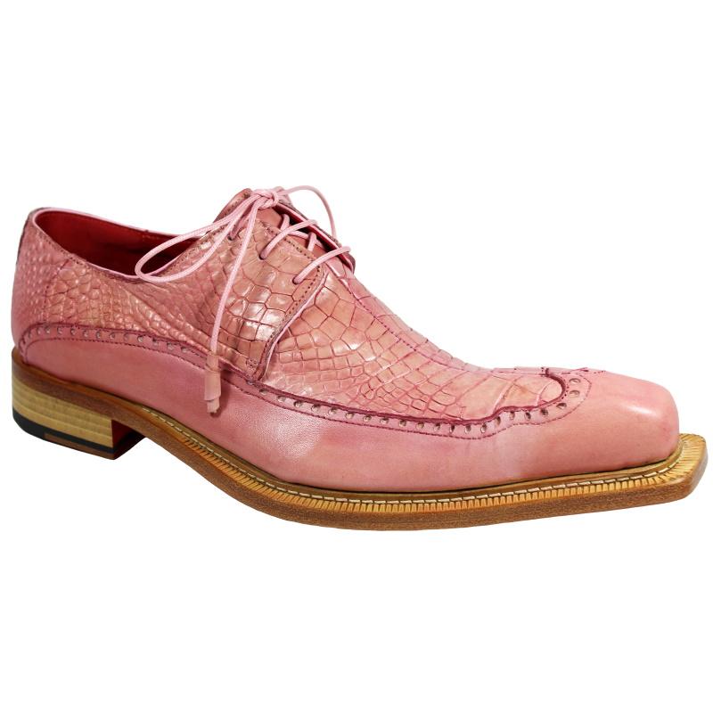Fennix Finley Alligator & Calfskin Shoes Rose Image