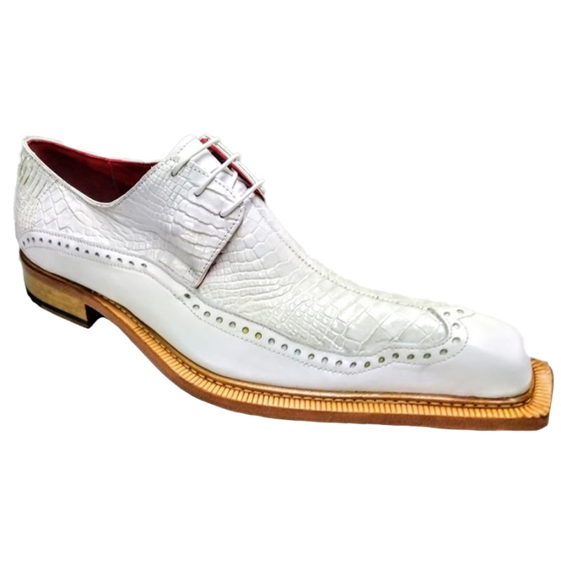 Fennix Finley Alligator & Calfskin Shoes White Image