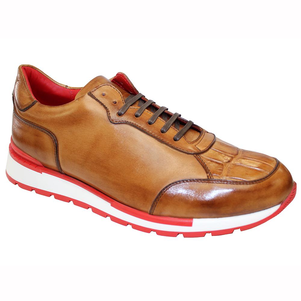 Fennix Freddie Leather & Alligator Sneakers Cognac Image