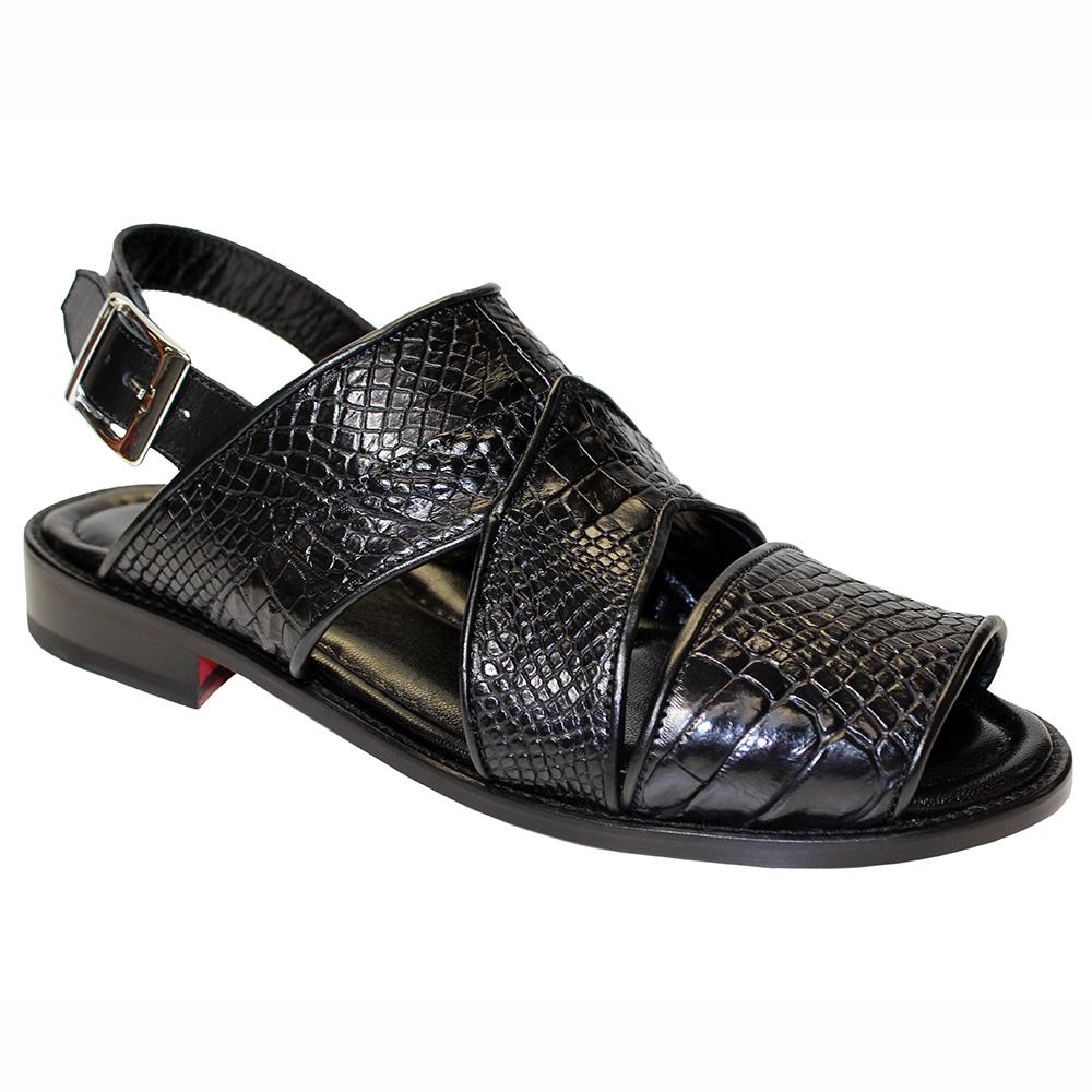 Fennix Harold Alligator Sandals Black (Special Order) Image