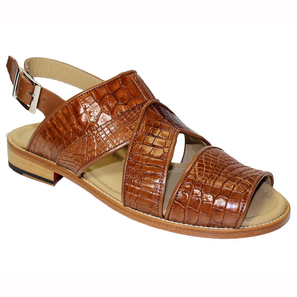 Fennix Harold Alligator Sandals Rust (Special Order) Image