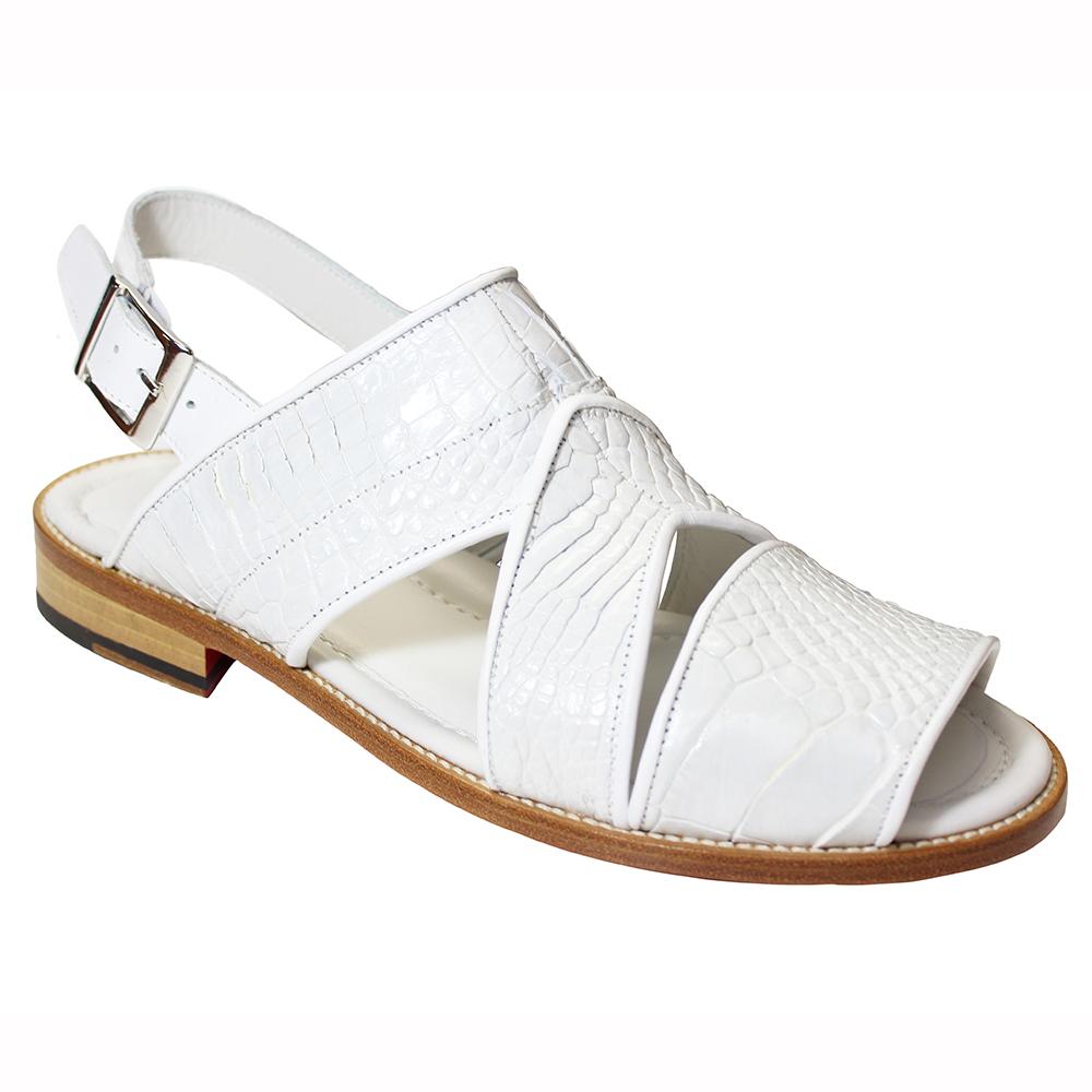 Fennix Harold Alligator Sandals White (Special Order) Image