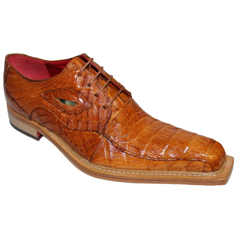 Fennix Hugo Hornback Crocodile Shoes Cognac Image