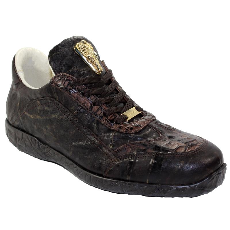 Fennix Jack Hornback & Calfskin Sneakers Chocolate Image