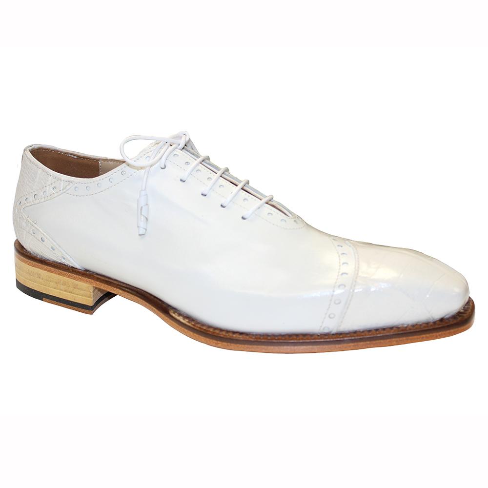 Fennix James Alligator & Calfskin Shoes White Image