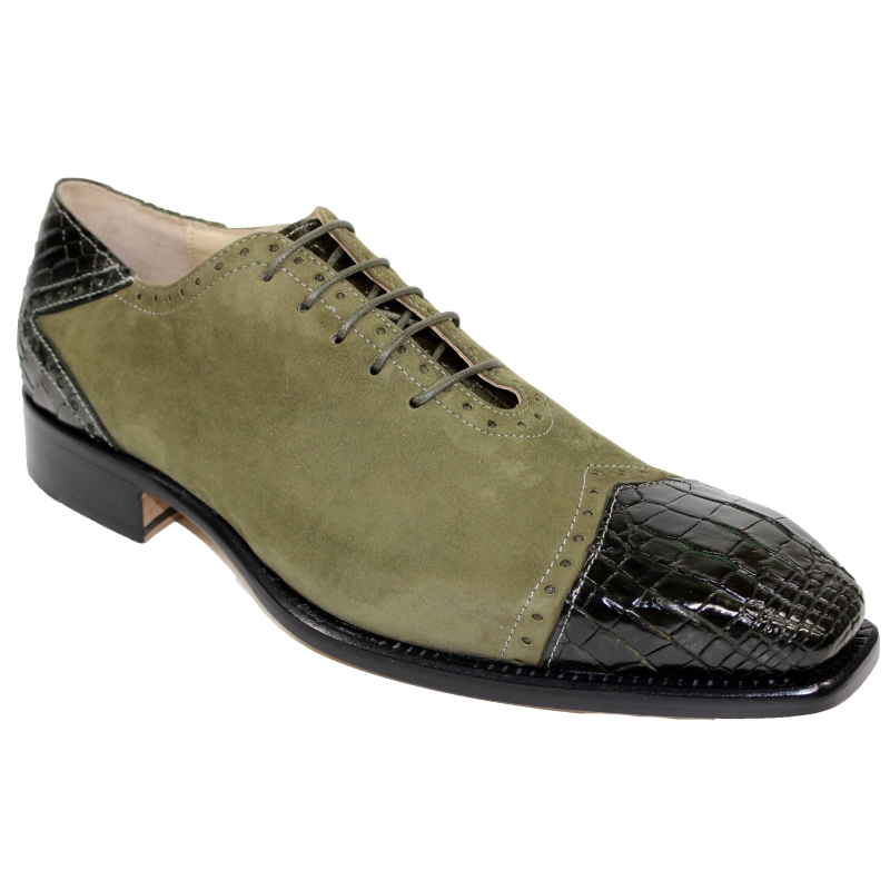 Fennix James Alligator & Suede Sneakers Olive Image