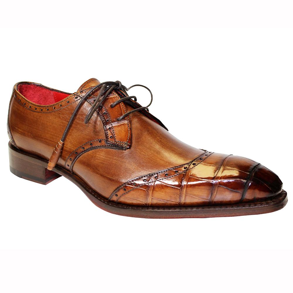 Fennix Jax Leather & Alligator Shoes Brown Image