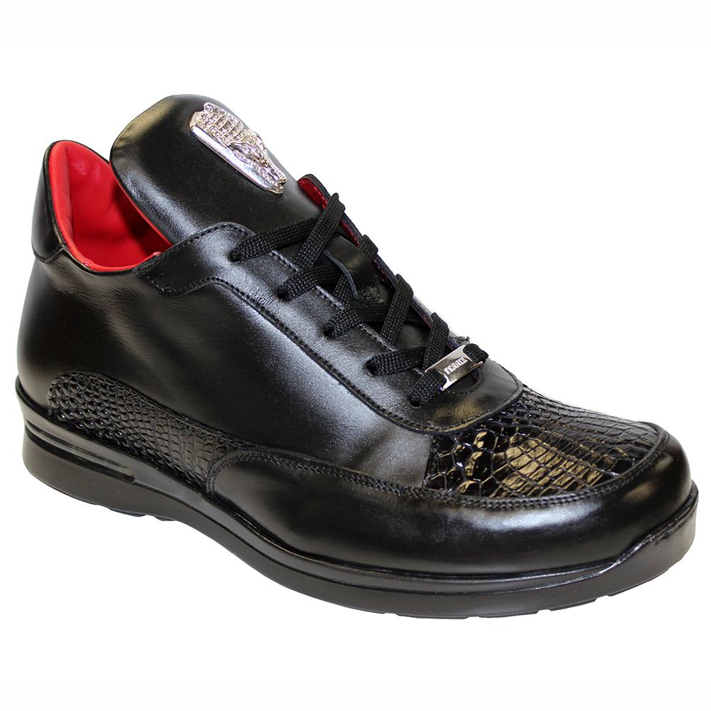 Fennix Lewis Leather & Alligator Sneakers Black Image