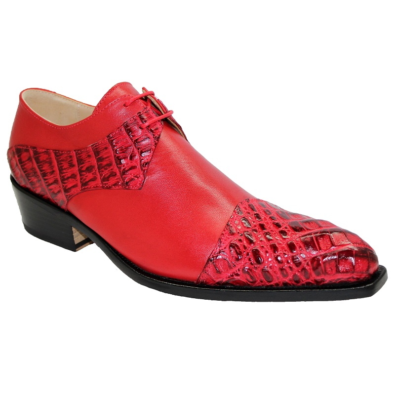 Fennix Max Calf and Hornback Cap-toe Shoes Red Image