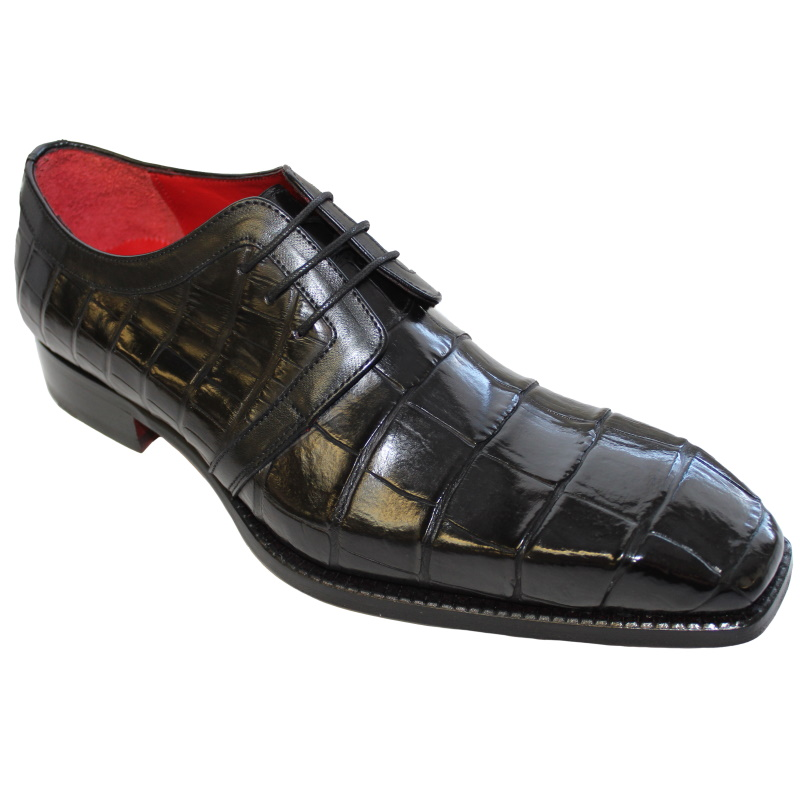 Fennix Miles Alligator Derby Shoes Black Image