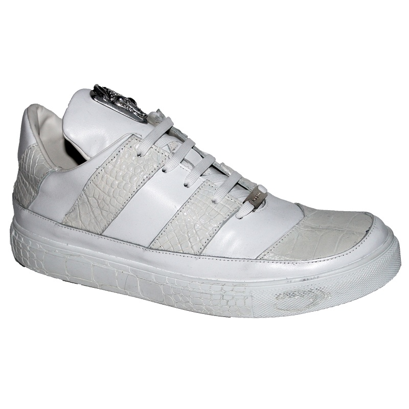 Fennix Noah Alligator and Calfskin Sneakers White Image