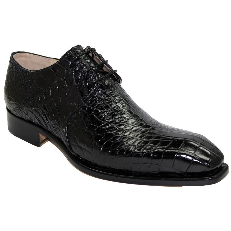 Fennix Oliver Alligator Shoes Black Image