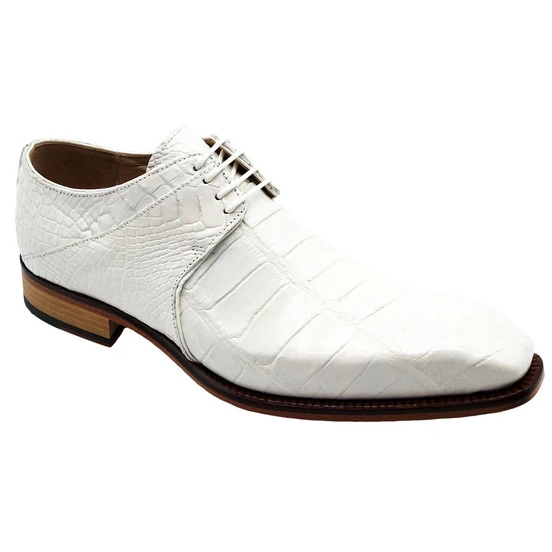 Fennix Oliver Alligator Shoes White Image