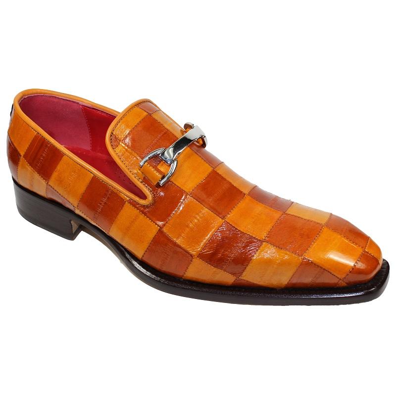 Fennix Oscar Eel Checkerboard Shoes Brandy / Cognac Image