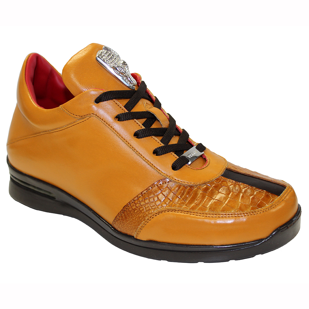 Fennix Tommy Leather & Alligator Sneakers Cognac / Brown Image