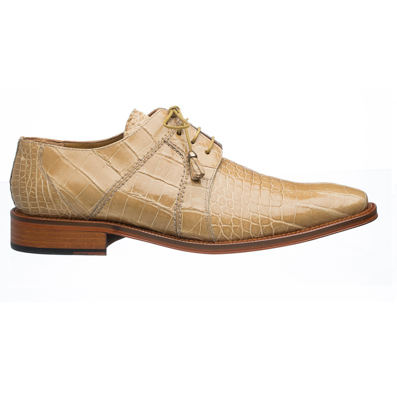 Ferrini 205 / 528 Alligator Derby Shoes Beige Image