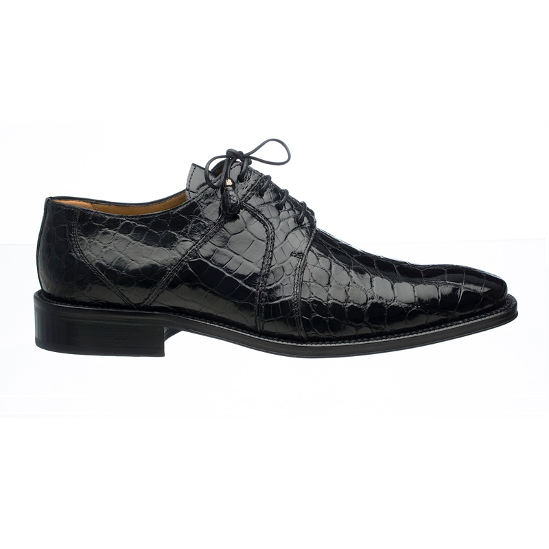 Ferrini 205 / 528 Alligator Derby Shoes Black Image