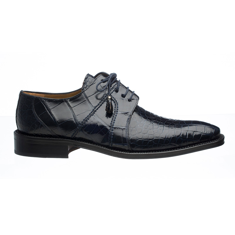 Ferrini 205 / 528 Alligator Derby Shoes Navy Image