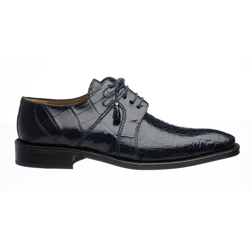 Ferrini 205 / 528 Alligator Derby Shoes Navy Image