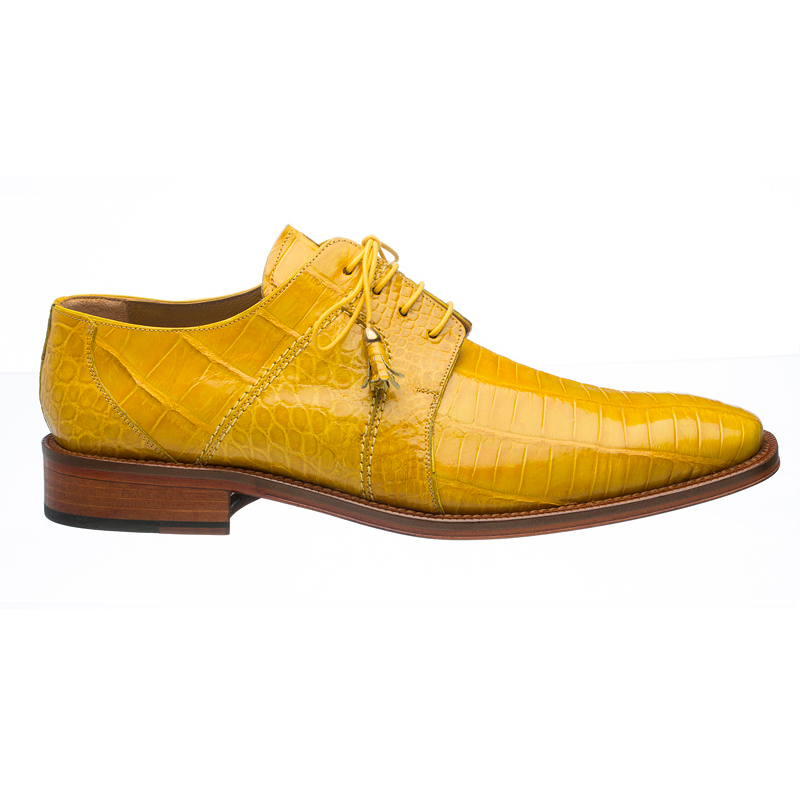 Ferrini 205 / 528 Alligator Derby Shoes Yellow Image