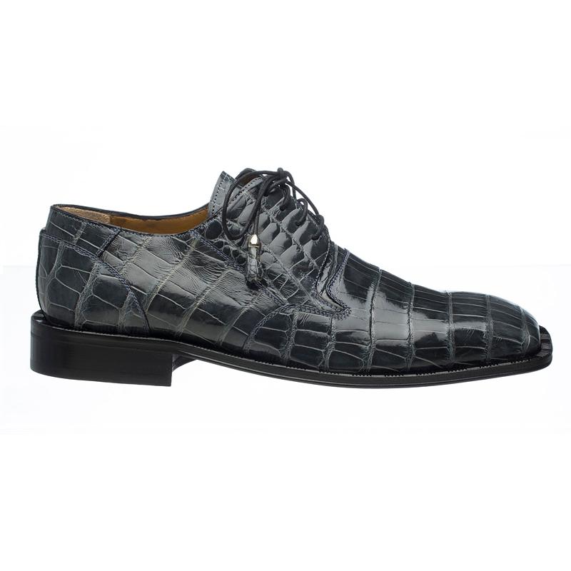 Ferrini 208 Alligator Square Toe Shoes Gray Image