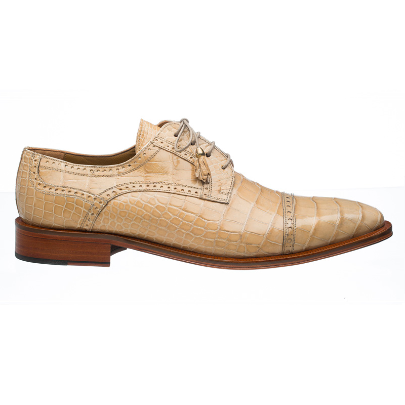 Ferrini 216M Alligator Cap Toe Shoes Dune Image