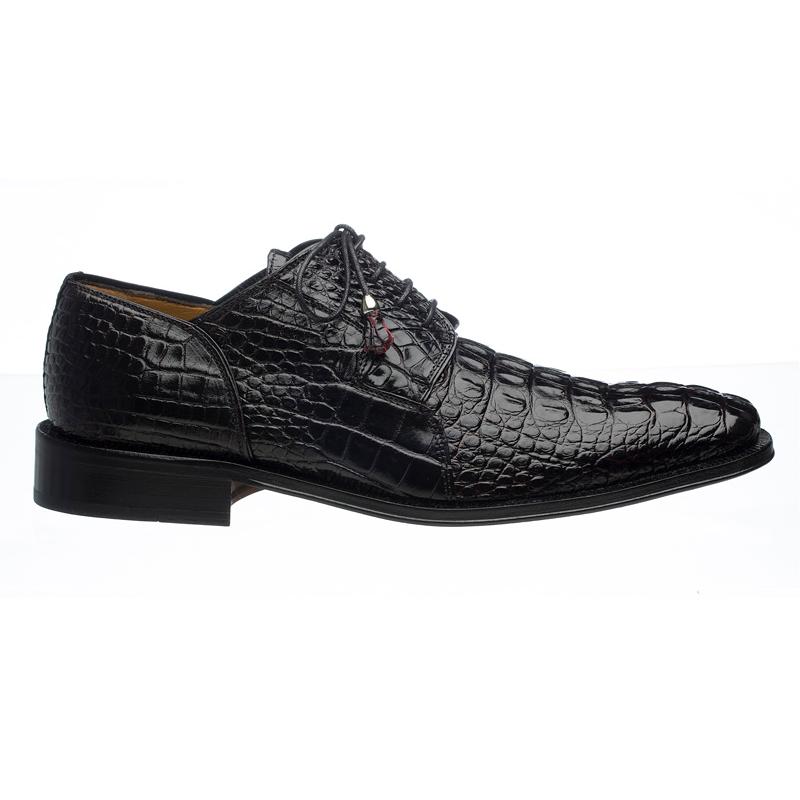 Ferrini 226 Hornback Alligator Derby Shoes Black Cherry Image